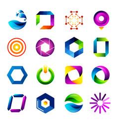 icon design based on letter o vector image