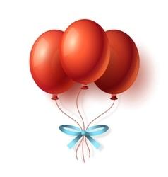 Realistic Cartoon Bunch of Balloons vector image