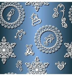 Seamless Ornate Winter Pattern vector image
