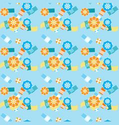 summer beach umbrellas seamless pattern vector image