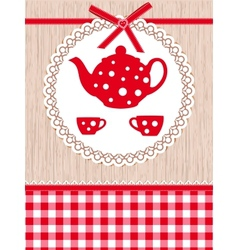 Tea time template vector image vector image
