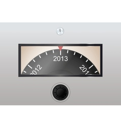 Circle counter in Year counting vector image vector image