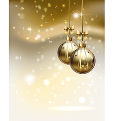 glimmered Christmas background vector image