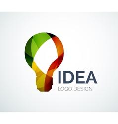 Light bulb logo design made of color pieces vector image