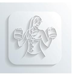 Oktoberfest woman icon vector