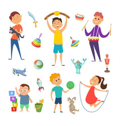 playground with funny characters of childrens vector image vector image