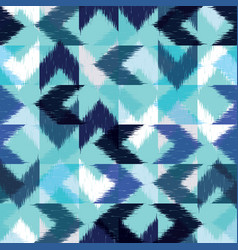 seamless ikat pattern vector image