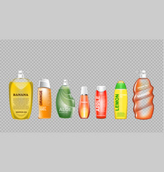 digital green and yellow shower gel vector image vector image