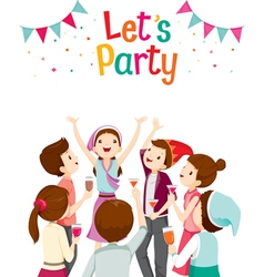 Man And Woman Fun In Party vector image