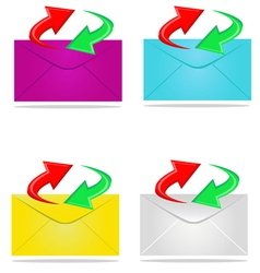 sending mail vector image vector image