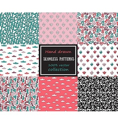 Set of seamless patterns tiling for abstract vector image vector image