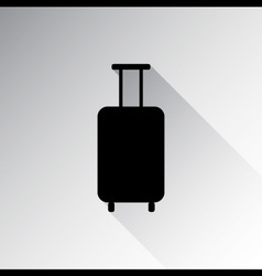 Travel luggage icon vector image