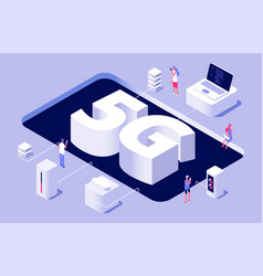 5g concept 5g wireless technology vector image