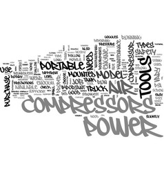 a guide to portable air compressors text word vector image