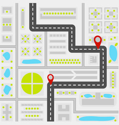 abstract city map concept vector image