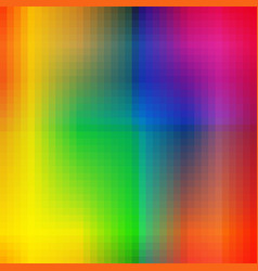 Abstract colorful squares irregular rainbow vector