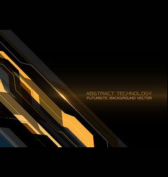 Abstract yellow gray line futuristic technology vector