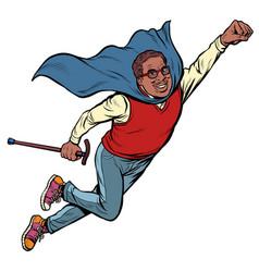 African man retired superhero health vector
