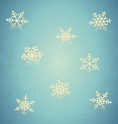 Aged card with snowflakes vector image
