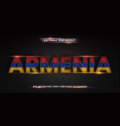 Armenian word with national flag - editable text vector