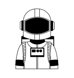 Astronaut wear equipment in black and white vector