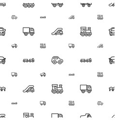 Automobile icons pattern seamless white background vector