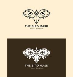 bird mask icon eagle eyes emblem vector image