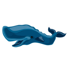 blue whale icon cartoon style vector image