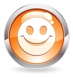 Button with smile vector