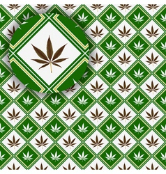 cannabis texture vector image