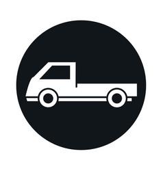 car mini truck model transport vehicle block and vector image