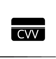 Card verification value cvv icon design vector