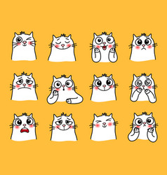 cat character stickers vector image