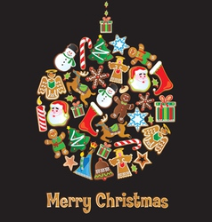 Christmas cookie ornament vector