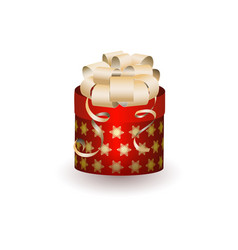 christmas gift box on white background vector image