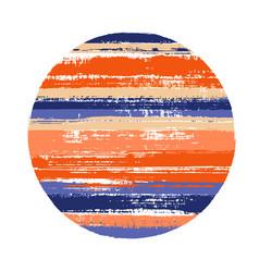 circle geometric shape of horizontal stripes vector image