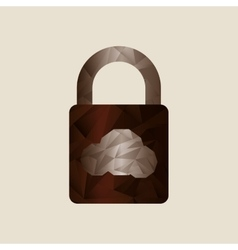 cloud security design vector image