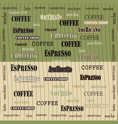 coffee wallpaper green brown vector image