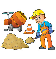 construction worker theme image 5 vector image