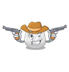 cowboy plastic bag character cartoon vector image