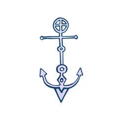 Creative anchor icon emblem vector