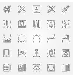 Design icons set vector image
