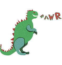 dinosaur rawr poster vector image