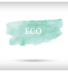 Eco green watercolor background vector