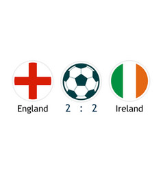 england versus ireland - banner with score for vector image