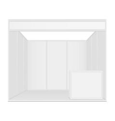 Exhibition booth mockup vector