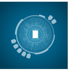 flat technology background vector image