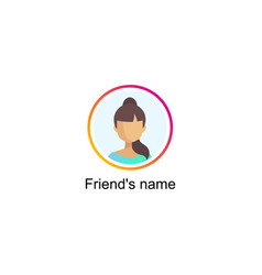 follower notification social media icon vector image