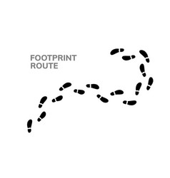 Footsteps footprint trekking route follow foot vector