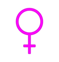 Gender sign mirror of Venus 1408 vector image